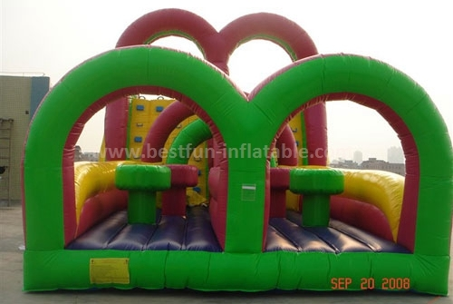 New design blow up inflatable obstacle course