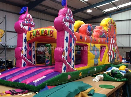 Funfair playground kids inflatable obstacle course