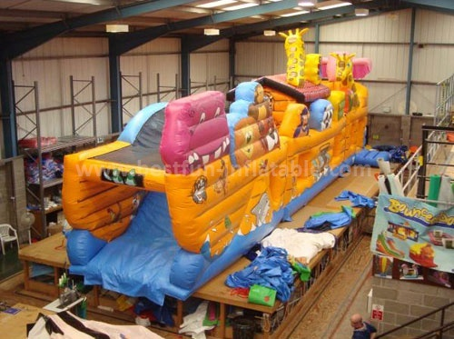 Noahs Ark inflatable obstacle course for kids