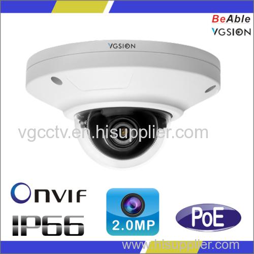 Vandal proof 2.0 Megapixel IP66 & IK10 housing IP Camera