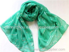 Scarf with foil printed for 2015