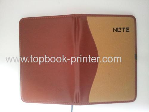 high-quality calf-bound leather cover spot UV coated softcover or softback notebook printer