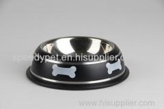 Black Dog a colori ciotola in acciaio inox