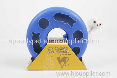 Пластмассовая кошачья игрушка с мышью