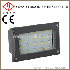100 lamps square led outdoor wall recessed lighting
