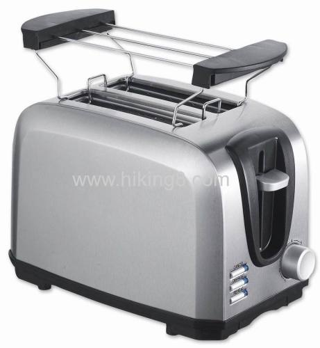 2 slice cool touch toaster with steel shell
