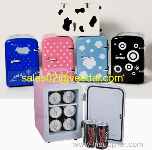 Mini Fridge/4L Mini wine chiller /micro cool mini fridge/refrigerator/beer cooler bar