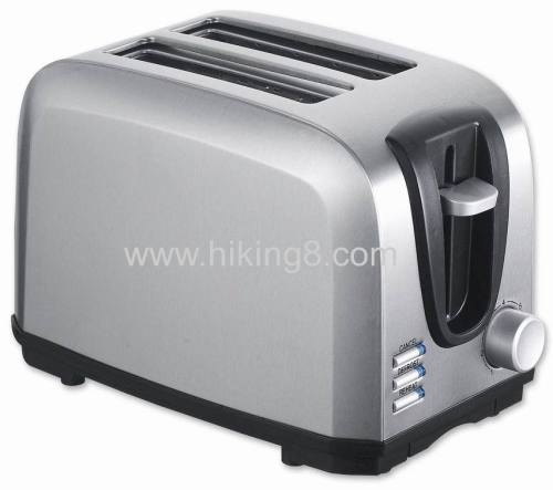 2 slice cool touch steel shell toaster