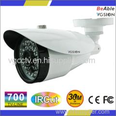 IR distance around 10m-30M HDIS 700 TVL IP66 metal housing Waterproof IR Camera
