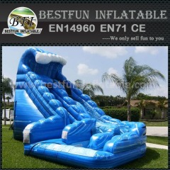 Inflatable curved wave slide made in China