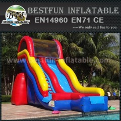 Summer water pool slide for lake