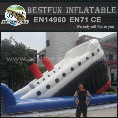 Big titanic inflatable adult slide for sale