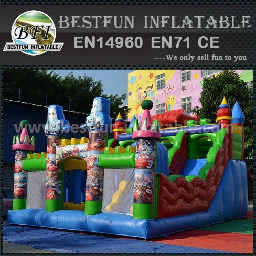Commercial car inflatable dry slide