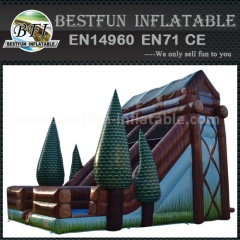 Used commercial tree theme giant inflatable slide