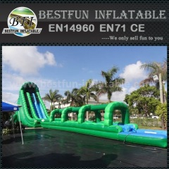 Hulk giant waterslide with long slip slide