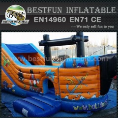 Cheap Inflatable Pirate Ship Dry Slide For Kids Entertainment Games