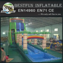 Giant jungle inflatable water slides for kids and adults