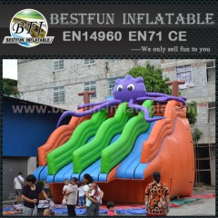 Attractive giant inflatable octopus water slide