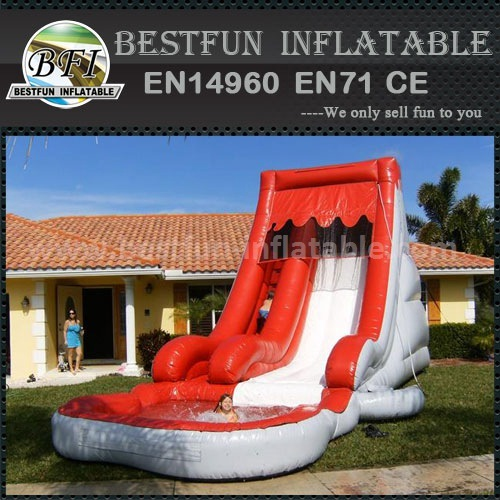 Red pool Inflatable wet and dry slide
