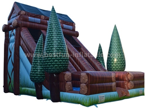 EN14960 certified commercial use tree outdoor inflatable slide