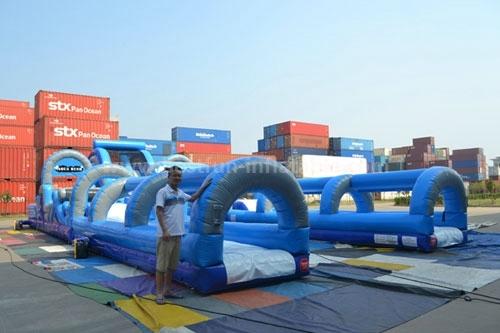 Gaint inflatable jump hippo slide