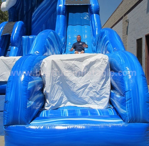 Jumper vertical rush high speedy inflatable slide