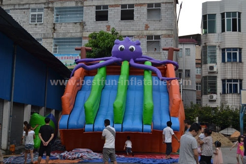Octopus giant inflatable water slide for adult