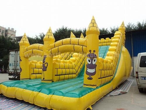 Big Kahuna air blown giant inflatable slides for Amusement park