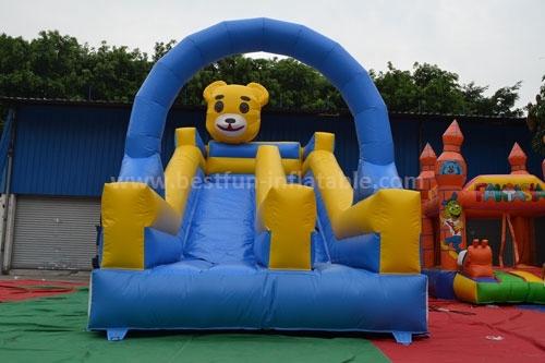Cheer Amusement children indoor bear inflatable slide