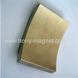High quality permanent Neodymium arc segment magnets