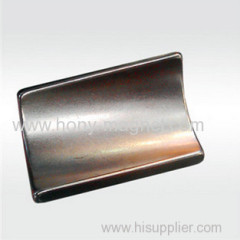 Neodymium Iron Boron Magnet Arc Shape With Nickel Plating