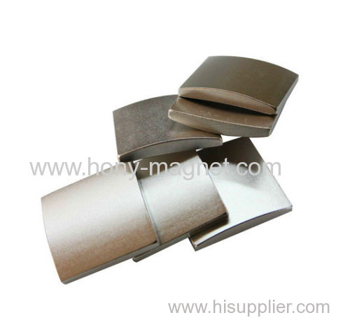 Strong and various shape n52 arc neodymium magnets