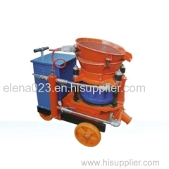 dry and wet shotcrete machine with accessories
