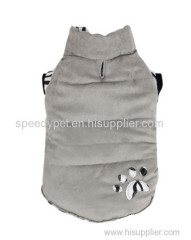 Brown/Grey Dog Winter Coat With Print for Small Dog