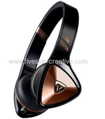 Monster DNA Portable Over-the-Ear Black and Rose Gold Headphones with Apple ControlTalk