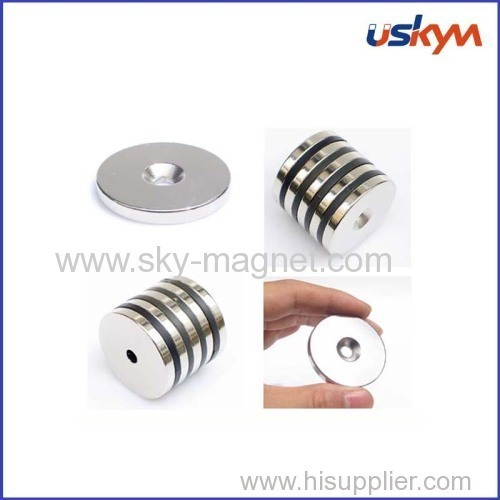 N45 magnet with countersink