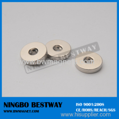 N42 Neodymium Magnet with Countersunk Hole/Ni coating