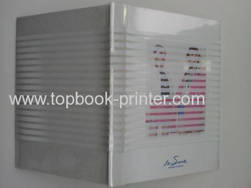 Top-quality case binding blue gold stamping PVC cover hardbound or hardback book printer