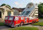 Customized 15M Length Inflatable Fire Truck Slide With Logo Printing Rental