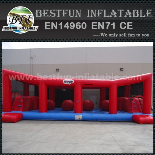 Big baller Challenge wipeout inflatable interactive course
