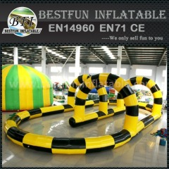 Inflatable race track for ATV cars sport
