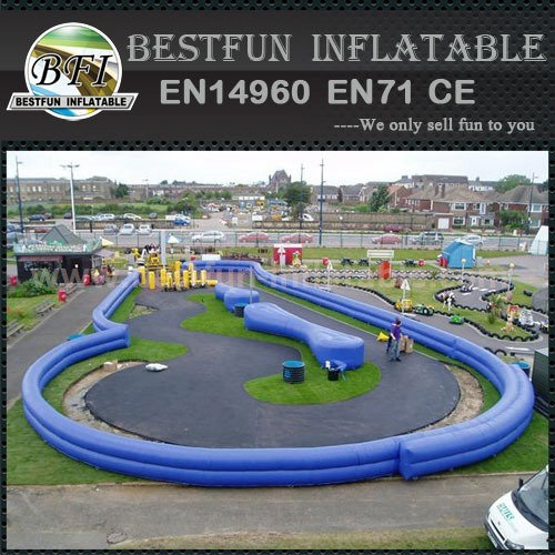 Outdoor inflatable car road racing track