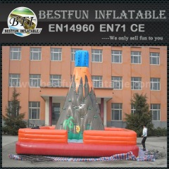 Inflatable rock climbing wall volcano mountain