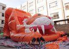 Big Commercial Tiger Inflatable Slide / Inflatable Dry Slide For Kids