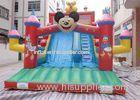 Cute Micky Mouse Commercial Inflatable Slide , Inflatable Garden Slide
