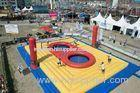 Outdoor Inflatable Sports Games , Inflatable Volleyball Court With Trampoline