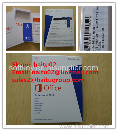Exclusive sales office professional 2013 Product Key Card box PKC official channel