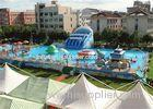 Safety Frame Adult Inflatable Amusement Park With Fire Resistant PVC