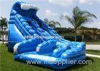 Inflatable Water Slide , Blue Used Inflatable Commercial Water Slide For Rent