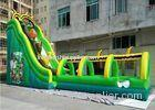 Lovely 7M Height Bee Shape Giant Inflatable Water Slide With Pool